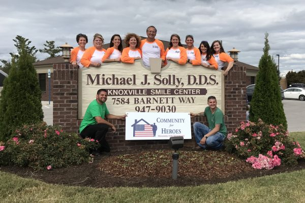 Michael J. Solly, DDS group photo for Community for Heroes